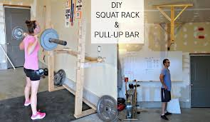 simply sadie jane diy crossfit garage gym part 2 fitness to the hubs for this post so get excited for his step by step instructions on how to construct your own squat rack and pull up bar for your home gym