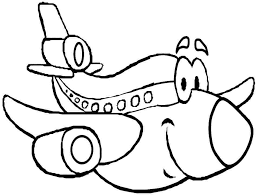 transportation cartoon plane colouring pages free printable