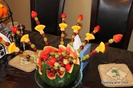Peacock Centerpieces Peacock Fruit Basket Or Centerpiece Cooking With Thas