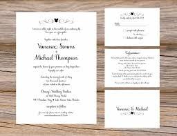 wedding invitation inserts wording wedding ideas
