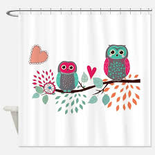 Owl Shower Curtains Teal Owl Shower Curtains Cafepress