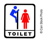 Male Female Bathroom Signs by Stock Illustration Of Funny Toilet Sign Funny Male And Female