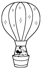 air balloon coloring pages minnie mouse coloringstar