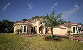 florida house wide angle shot of luxurious florida house stock photo picture
