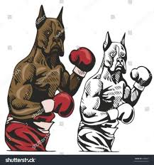 boxer dog in boxing gloves dog boxing mascot sport teams great stock vector 1680847