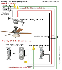how to wire a ceiling fan with 2 switches ceiling fan wiring diagram 2