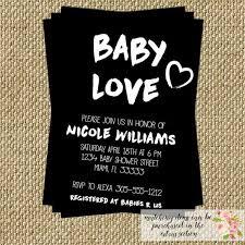 baby baby shower invitation modern black and white fresh
