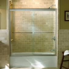 Sliding Bathtub Shower Doors K702211 L Shp Fluence Tub Shower Sliding Shower Door Bright