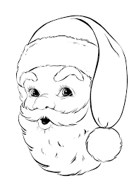 santa face coloring pages getcoloringpages com