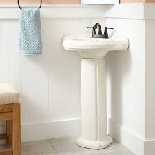 Pedestal Sink Height Gaston Corner Porcelain Pedestal Sink Bathroom