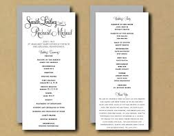 one page wedding program template one page wedding program template template business