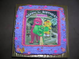 barney birthday cake cakes cakes n more barney and friends