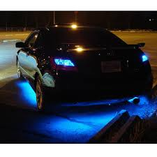 underbody led lights blue car truck 4 piece kit led strips under
