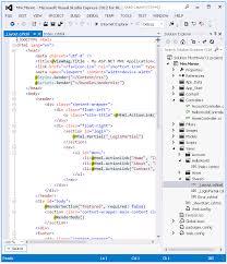layout design in mvc 4 adding a view microsoft docs