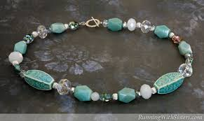 string beads necklace images How to bead string a gemstone necklace running with sisters jpg