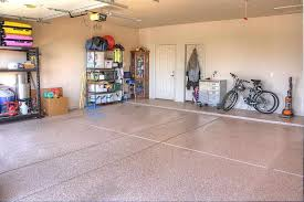 contemporary garage with simple granite tile floors in yuma az