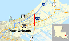 New Orleans Neighborhoods Map by Interstate 510 Wikipedia