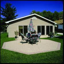outdoor custom stone and epoxy patios