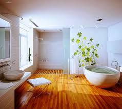 the ingenious ideas for bathroom flooring midcityeast natural wood bathroom flooring design with white large bathtub ideas