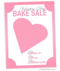 valentines flyer template s flyer for bake sale http bakesaleflyers