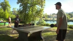 Outdoor Tennis Table Quality Outdoor Ping Pong Concrete Results Youtube