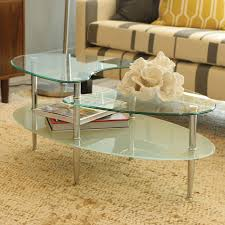 Living Room Sofa Tables by Mariner Glass Oval Coffee Table Silver Coffee Tables Best