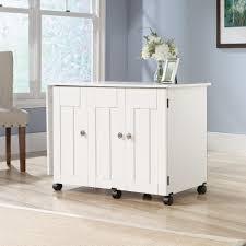 sauder select storage cabinet in white sauder select sewing craft cart 414873 sauder