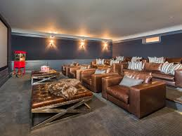 Home Theater Design Los Angeles This State Of The Art Theater Room Offers A 15 Foot Screen And