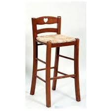 seduta sgabello in legno per bimbo colore ciliegio con seduta paglia