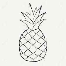 coloring page lovely drawing a pineapple image outline coloring