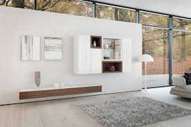 contemporary white themes living room decors with wooden floating
