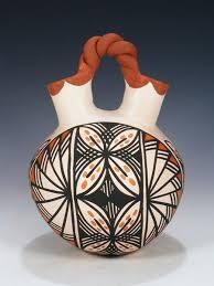 Indian Wedding Vase Story Acoma Pueblo Pottery U2013 Pueblodirect Com