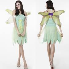 Elf Halloween Costume Shop Anime Tinker Bell Coaplay Costume Flower
