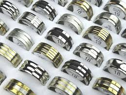 jewelry rubber rings images 25pcs gold silver black rubber mix rings men women stainless steel jpg