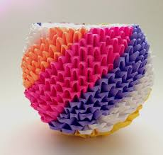 3d Origami Flower Vase Tutorial 122 Best 3d Origami Images On Pinterest Modular Origami Origami