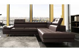 canape angle cuir italien canapé d angle en cuir 5 6 places mobilier privé