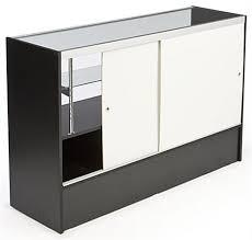 Sliding Glass Cabinet Doors Display Case Adjustable Glass Shelves W Sliding Doors