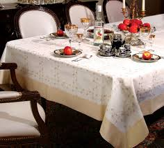 White Table Cloths Ribbon Rose Embroidered Tablecloths