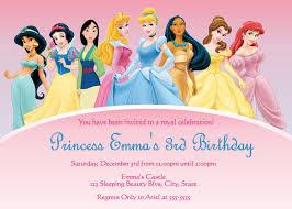 Personalized Invitation Card For Birthday Disney Princesses Birthday Invitations Disney Princess Birthday