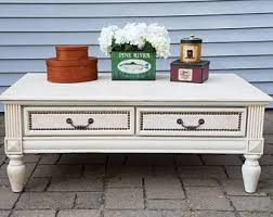 vintage shabby chic coffee table etsy