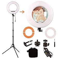 makeup artist light ginson 12 inch 180led mirror ring light with stand