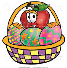 Decorated Easter Eggs Clip Art by Cuisine Clipart Of A Red Apple Character Mascot Behind An Easter