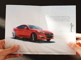 car ads in magazines hyundai beats rivals on track consoles them with sympathy cards