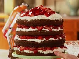 strawberry chocolate layer cake recipe ree drummond food network