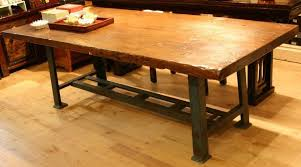 industrial kitchen table furniture custom made industrial style working dining table by