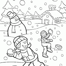 winter season pictures for kids drawing
