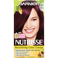rich cherry hair colour nutrisse nourishing color creme 42 deep burgundy black cherry