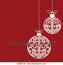 clip art of christmas ornaments balls k5083156 search clipart