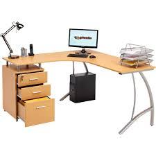 large corner computer desk a4 filing drawer for home office