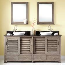 72 arrey teak vanity for semi recessed sink gray wash